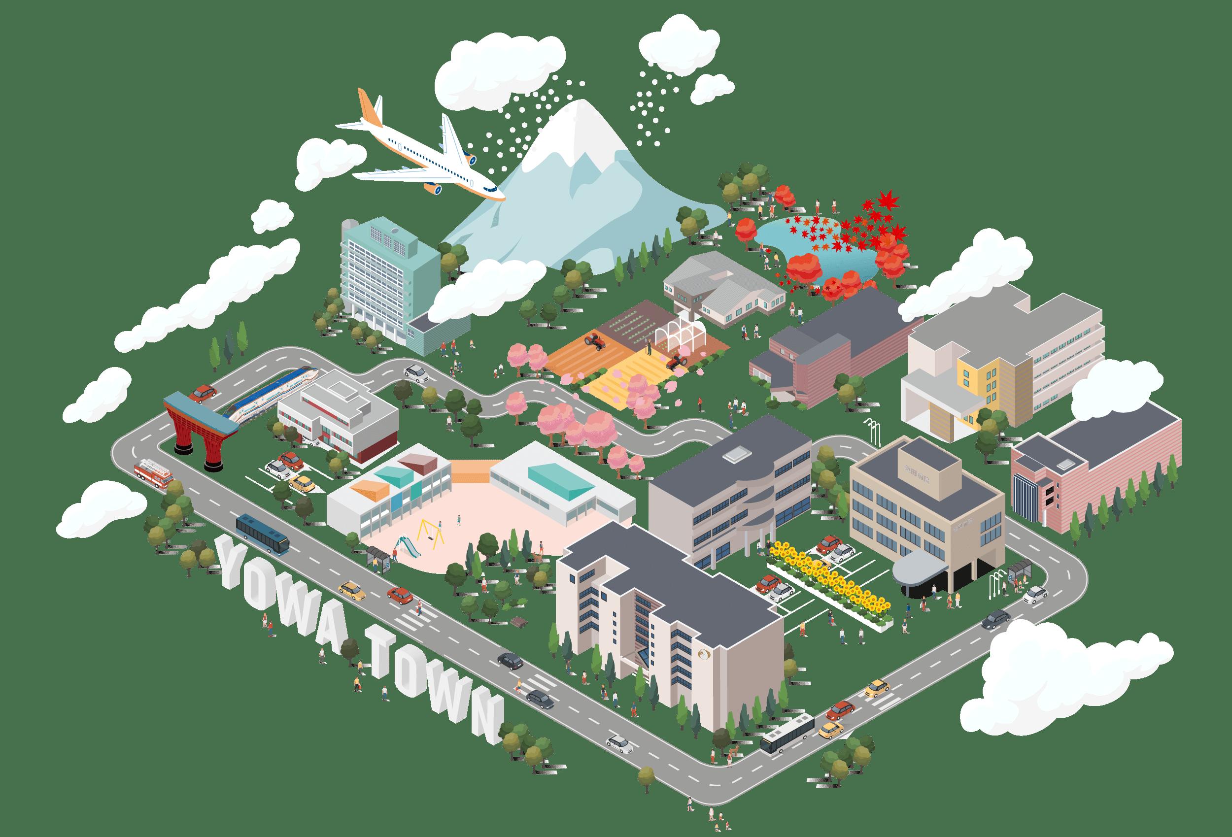 洋和会のイラストマップ